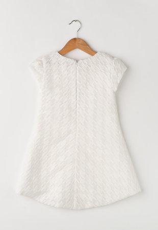 Rochie alba texturata