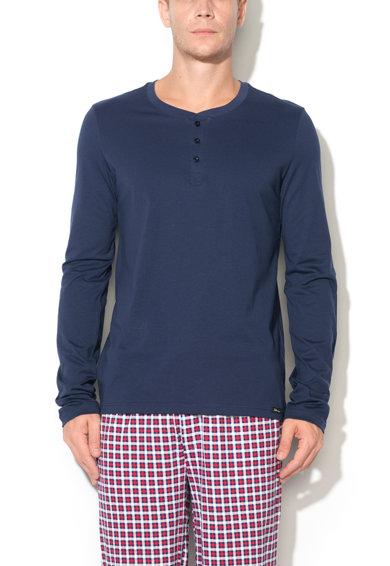 Bluza bleumarin cu nasturi Recreate Sleep de la Skiny