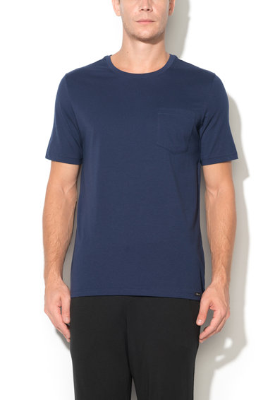 Tricou bleumarin cu buzunar Recreate Sleep de la Skiny