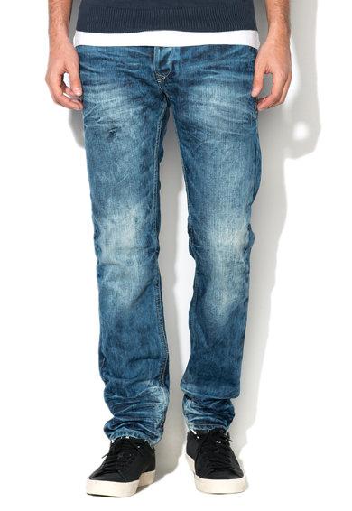 Jeansi slim albastri albastri decolorati Twister de la BLEND