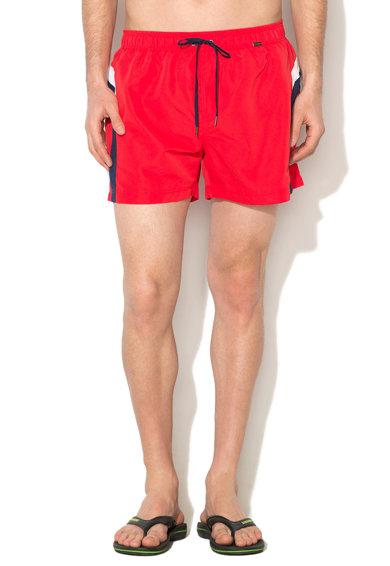 Pantaloni scurti de baie rosu cu bleumarin Basic Instinct de la Skiny