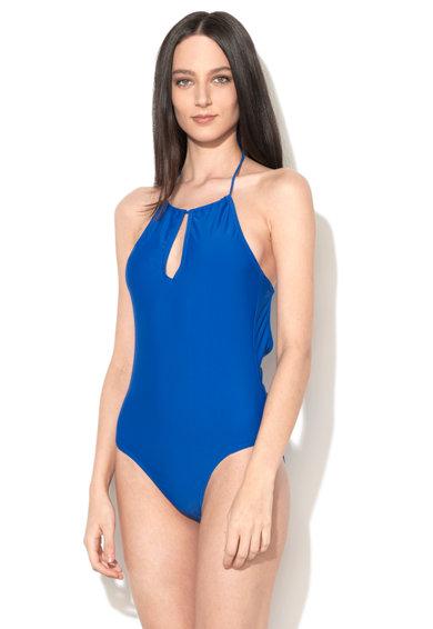 Costum de baie intreg albastru cobalt Alexia