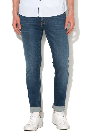 Blugi slim fit albastri conici Trey 467 de la Big Star