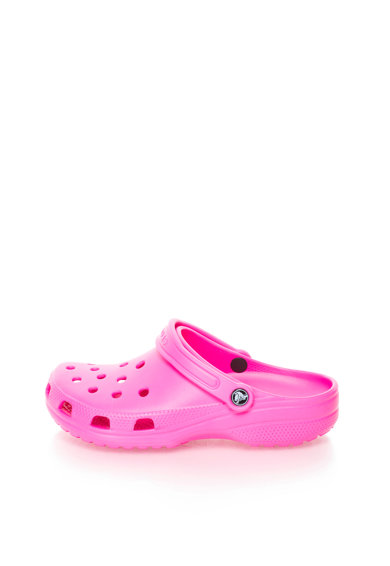 Saboti slingback roz neon Classic de la Crocs