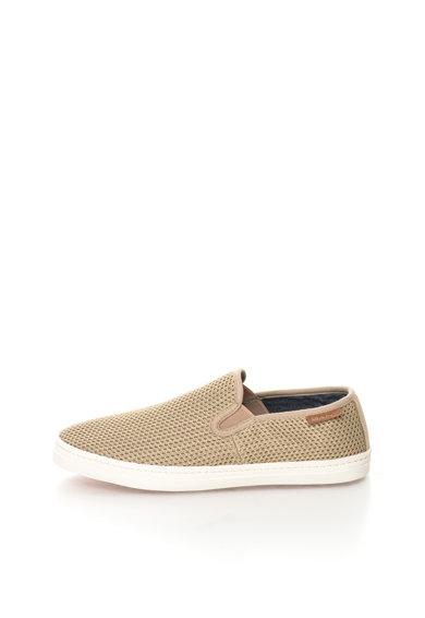 Pantofi slip-on bej tricotati Delray de la Gant
