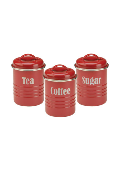 Set de recipiente rosii cu capac – 3 piese de la Typhoon