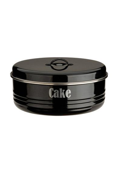 Cutie neagra cu capac pentru prajituri de la Typhoon