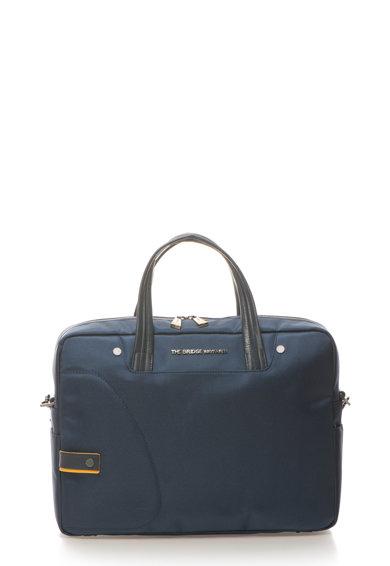 Geanta bleumarin pentru laptop cu garnituri de piele de la The Bridge Wayfarer