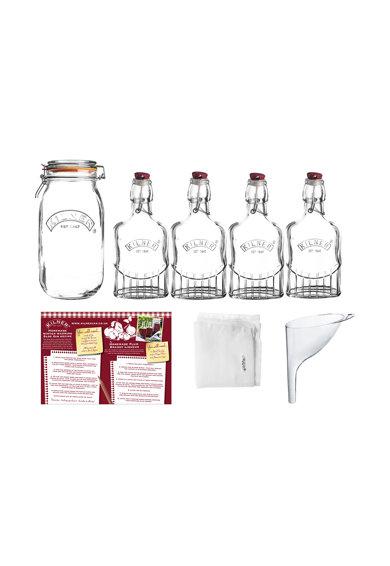 Set cadou de gin sloe de sticla transparenta – 8 piese de la Kilner