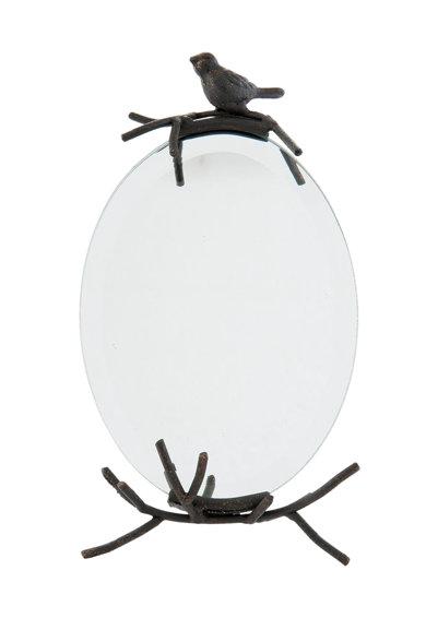 Oglinda neagra cu detaliu in forma de pasare de la Clayre  Eef