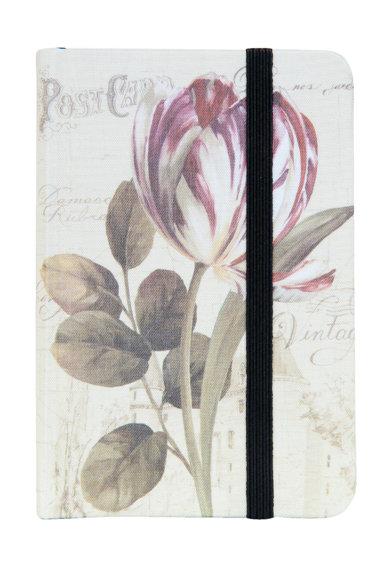 Carnetel alb fildes cu model floral de la Clayre  Eef