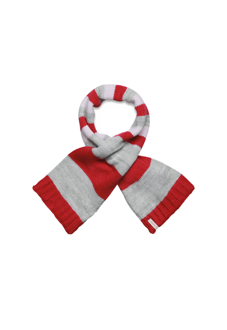 Fular tricotat in dungi si cu terminatie striata de la Esprit