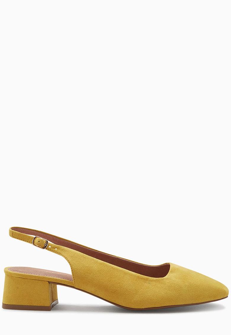 Pantofi slingback cu varf patrat si toc masiv de la NEXT