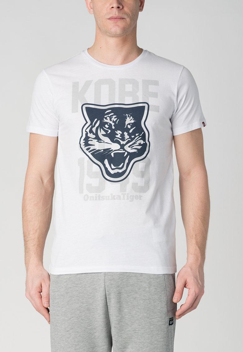 Onitsuka Tiger Tricou alb cu imprimeu