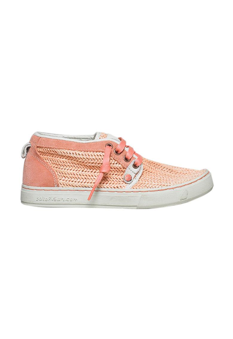 Satorisan Pantofi casual roz din rafie Hamoru