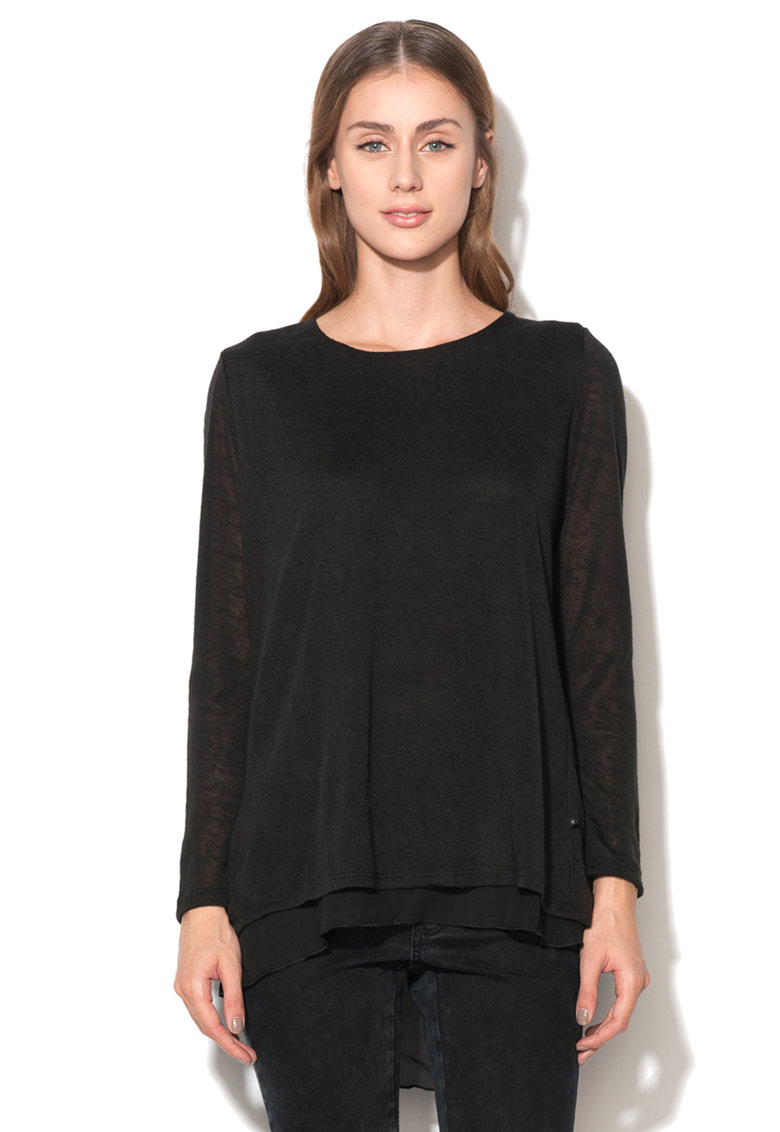 Bluza neagra cu aspect 2in1 Bonga de la Big Star 157942900