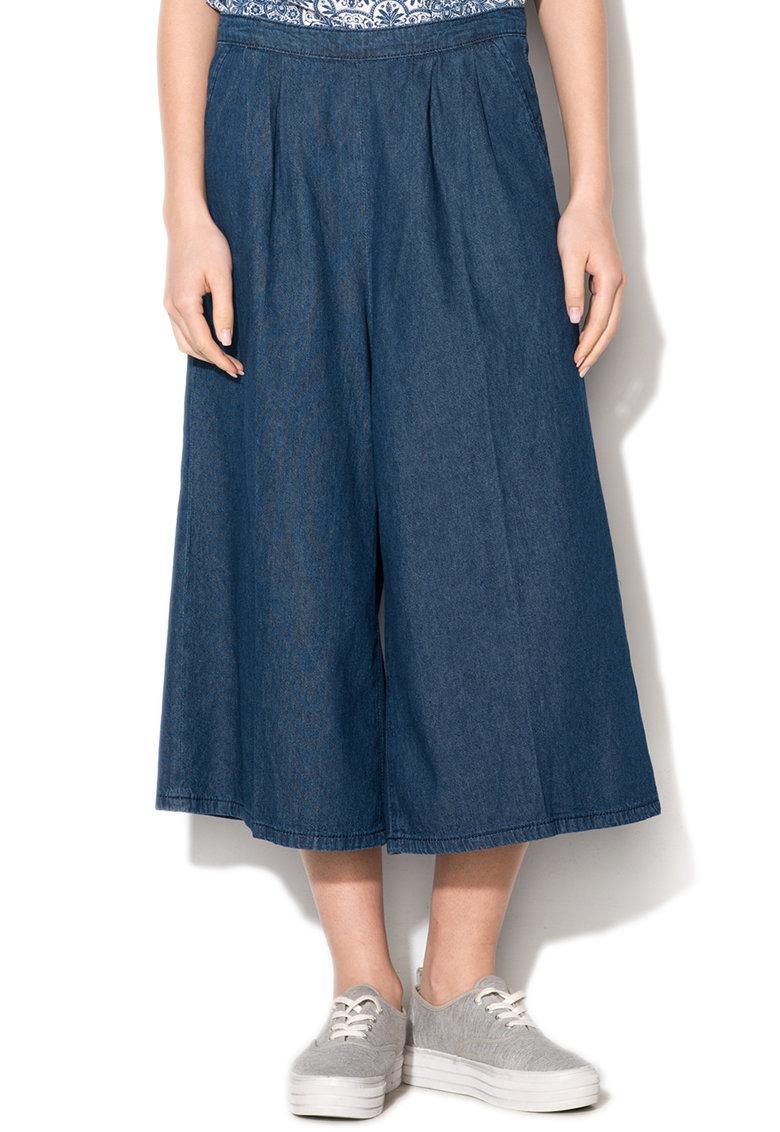 Fusta-pantalon din denim albastru inchis Mastrangelo de la Silvian Heach Denim