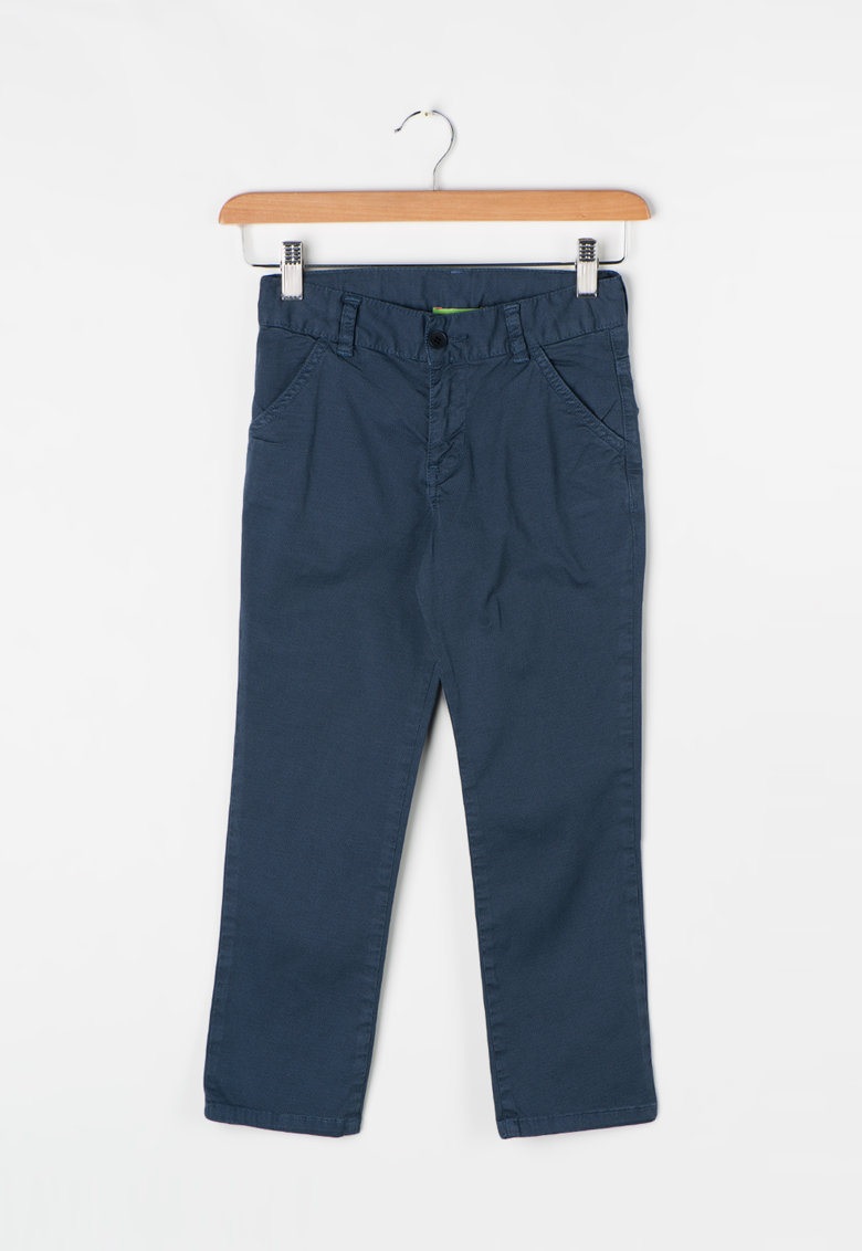 Zee Lane Kids Pantaloni bleumarin prafuit cu model discret