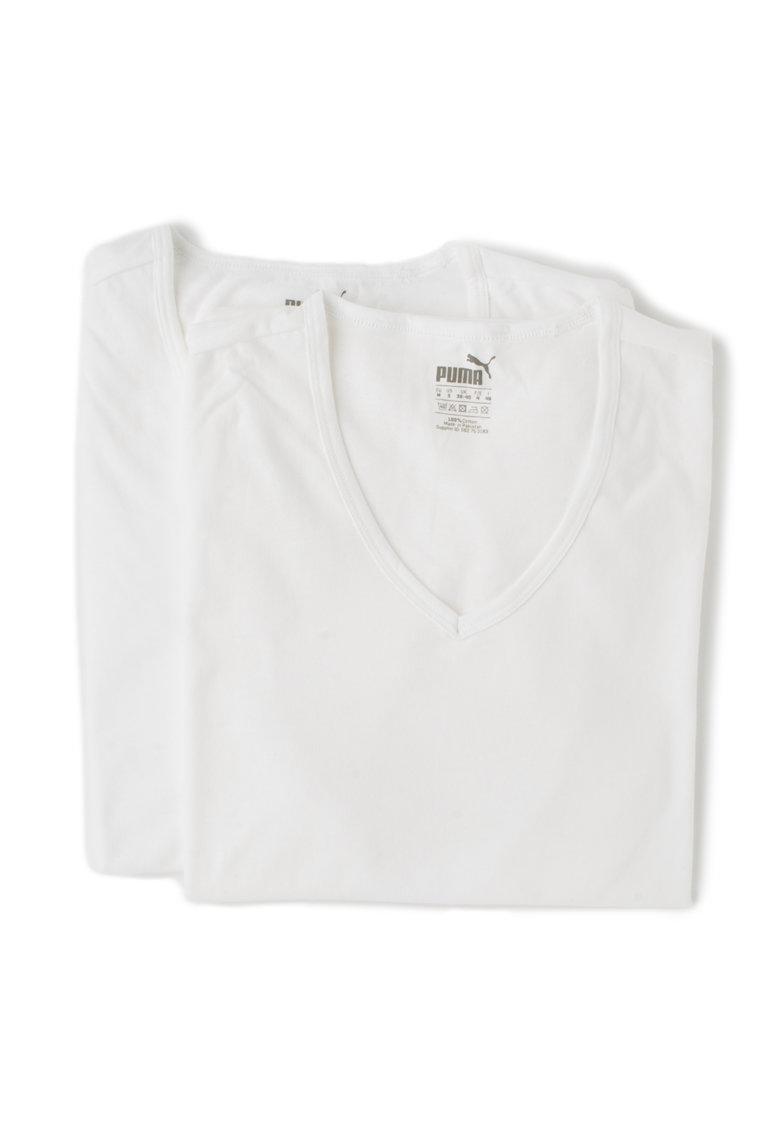 Puma Set de tricouri regular fit albe – 2 piese