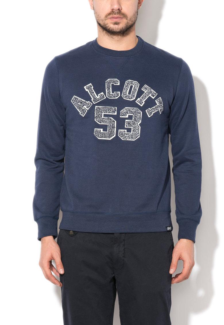 Bluza sport bleumarin cu broderie logo