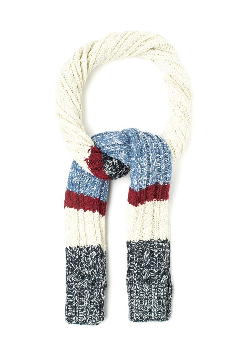 Fular multicolor cu torsade Quito de la Pepe Jeans London