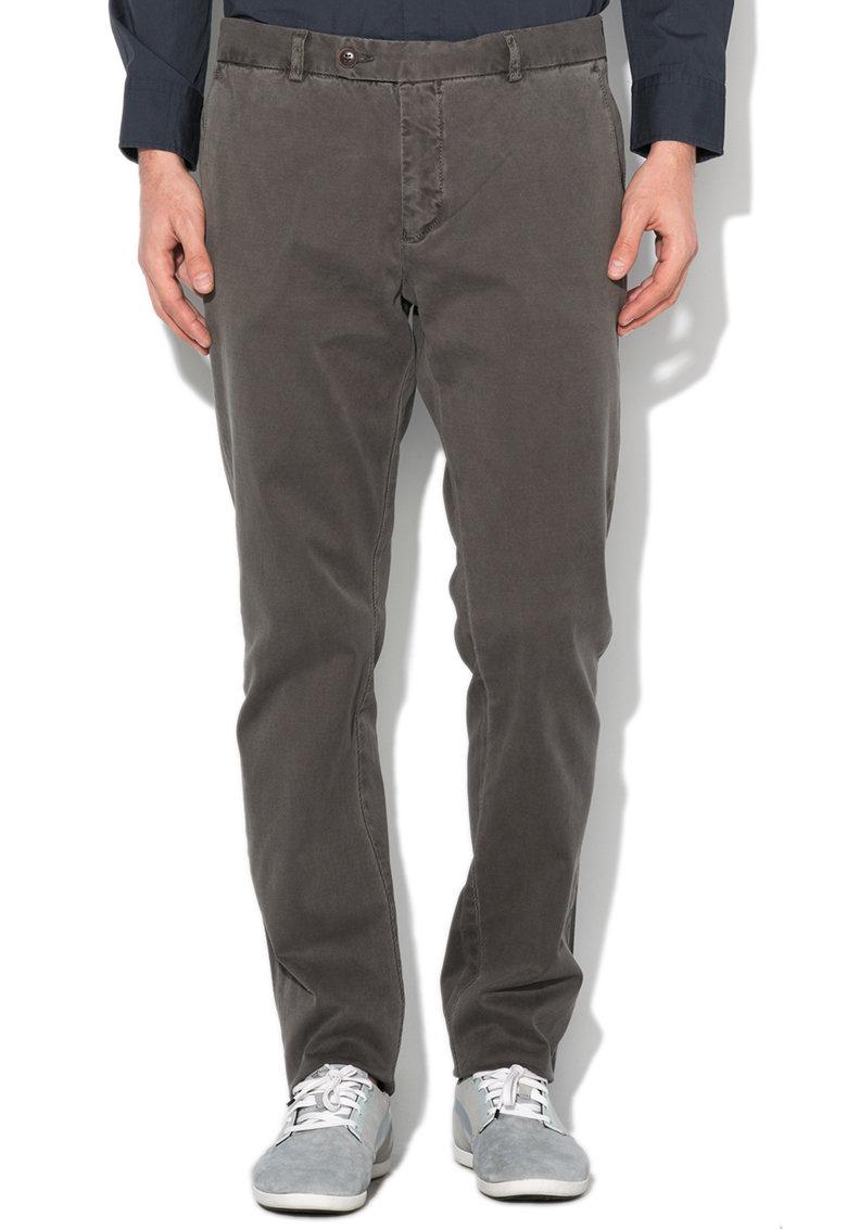 Mexx Pantaloni slim fit gri inchis texturati