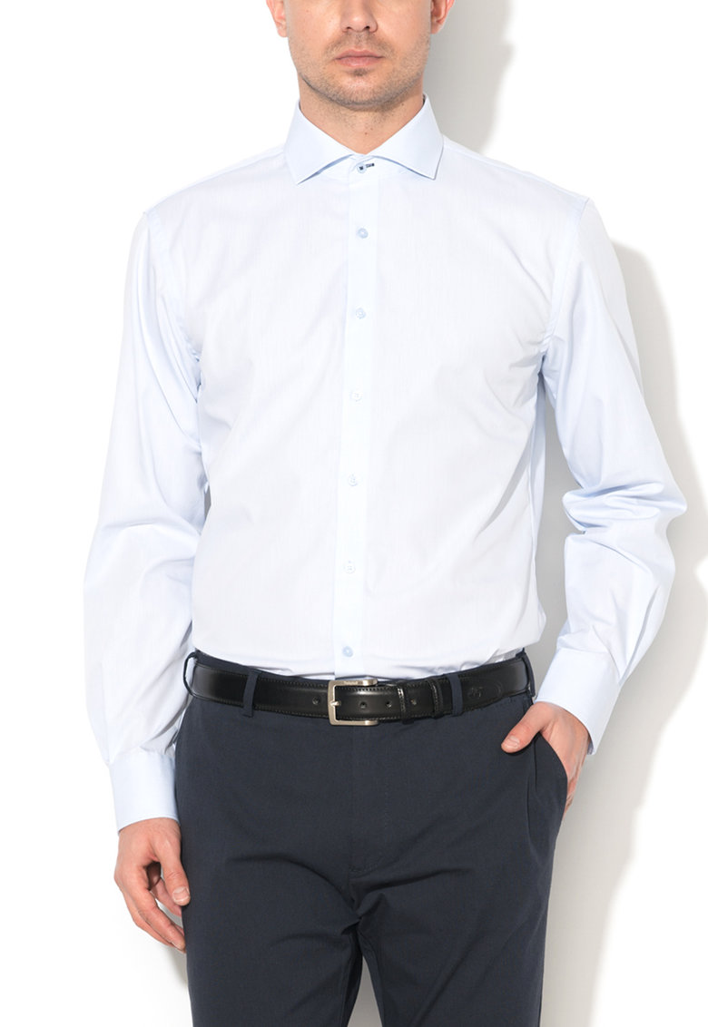 Camasa slim fit bleu