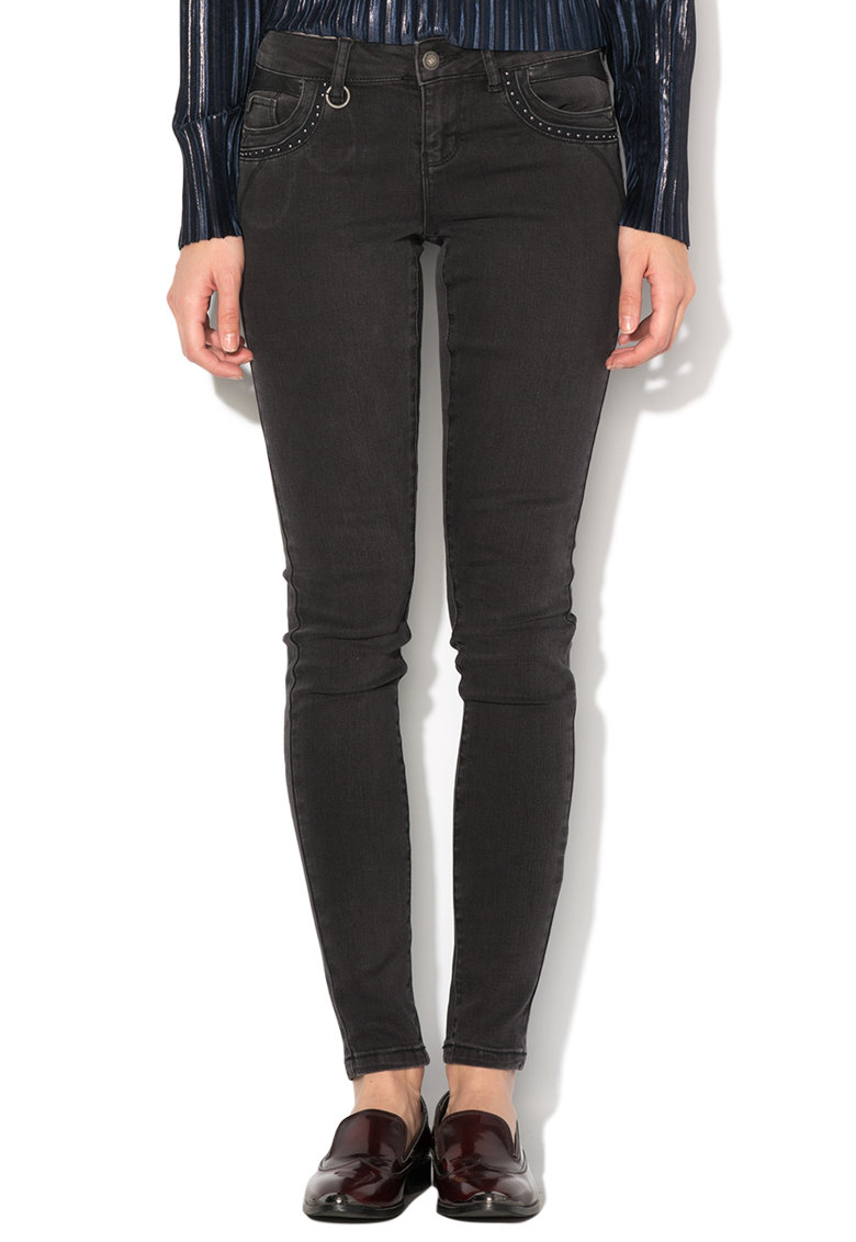 Vero Moda Jeansi slim fit gri antracit Five