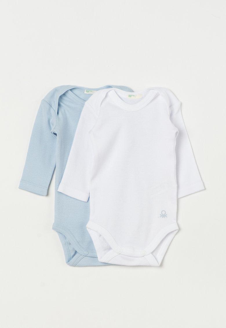 Undercolors of Benetton Set de body-uri albastru lavanda cu alb – 2 piese