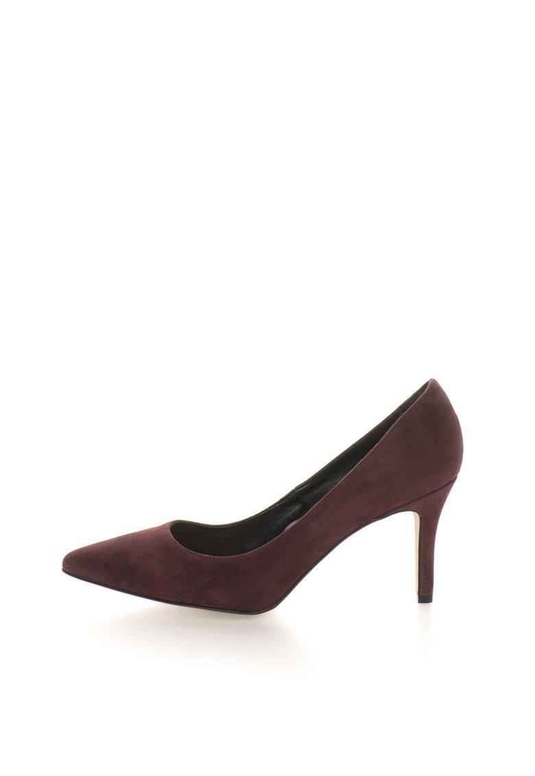 Versace 1969 Abbigliamento Sportivo Pantofi violet prafuit de piele intoarsa cu varf ascutit Simonne