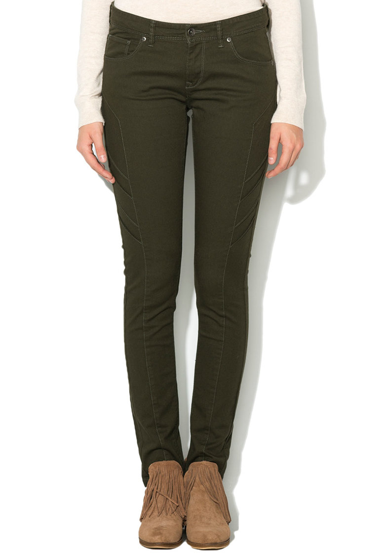 Big Star Pantaloni slim fit verde militar
