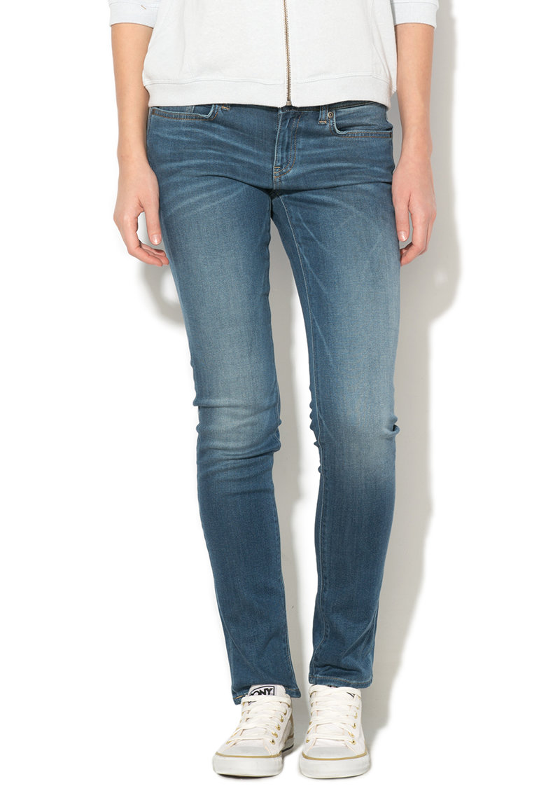 Big Star Jeansi skinny conici albastri Cindy 591