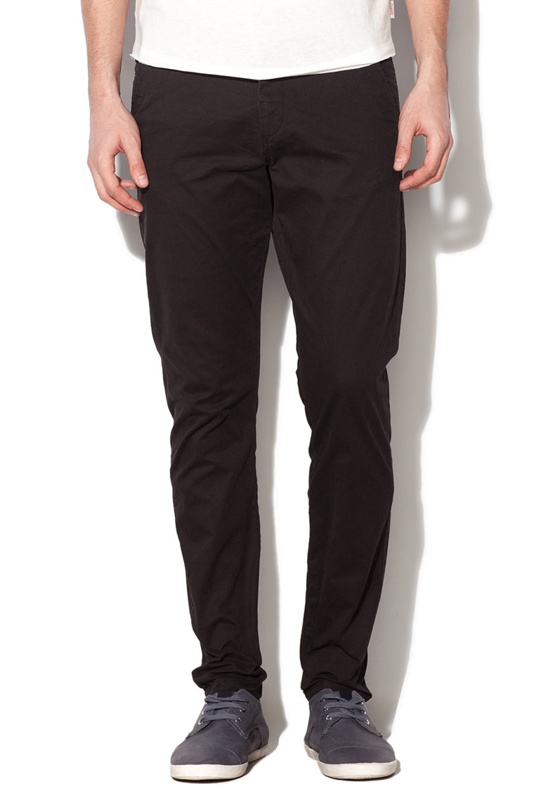 JackJones Pantaloni conici negri Marco
