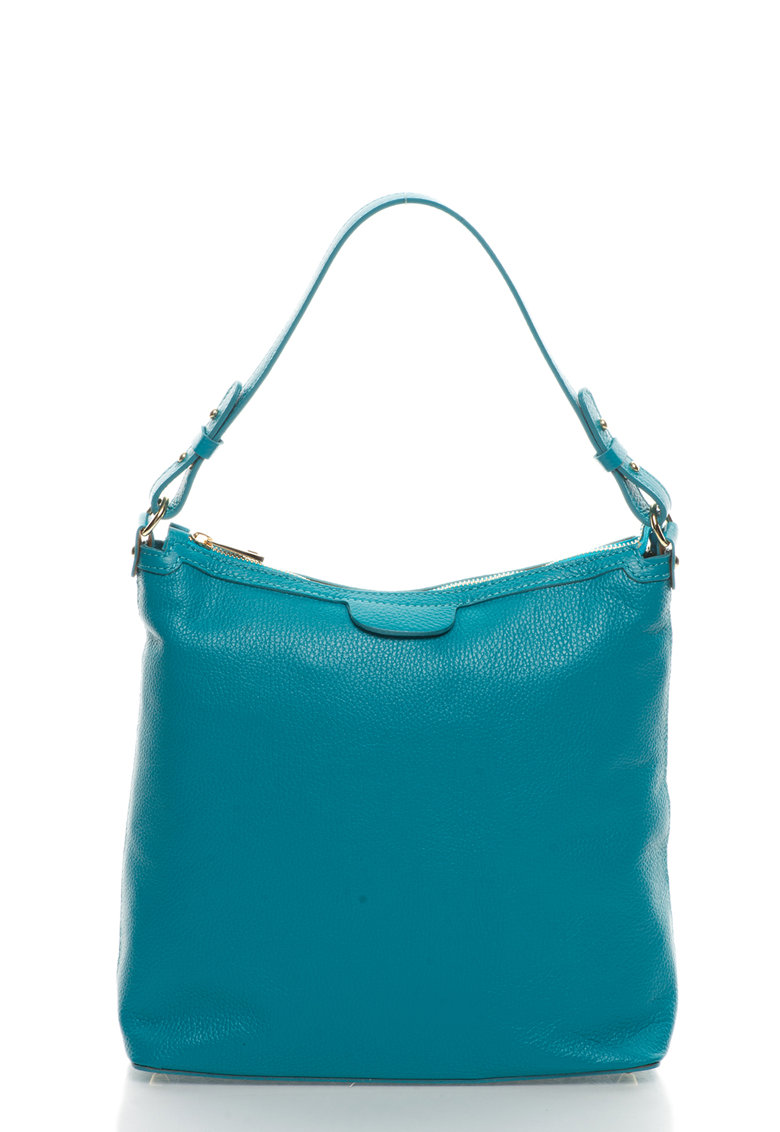Zee Lane Collection Geanta hobo albastru teal de piele