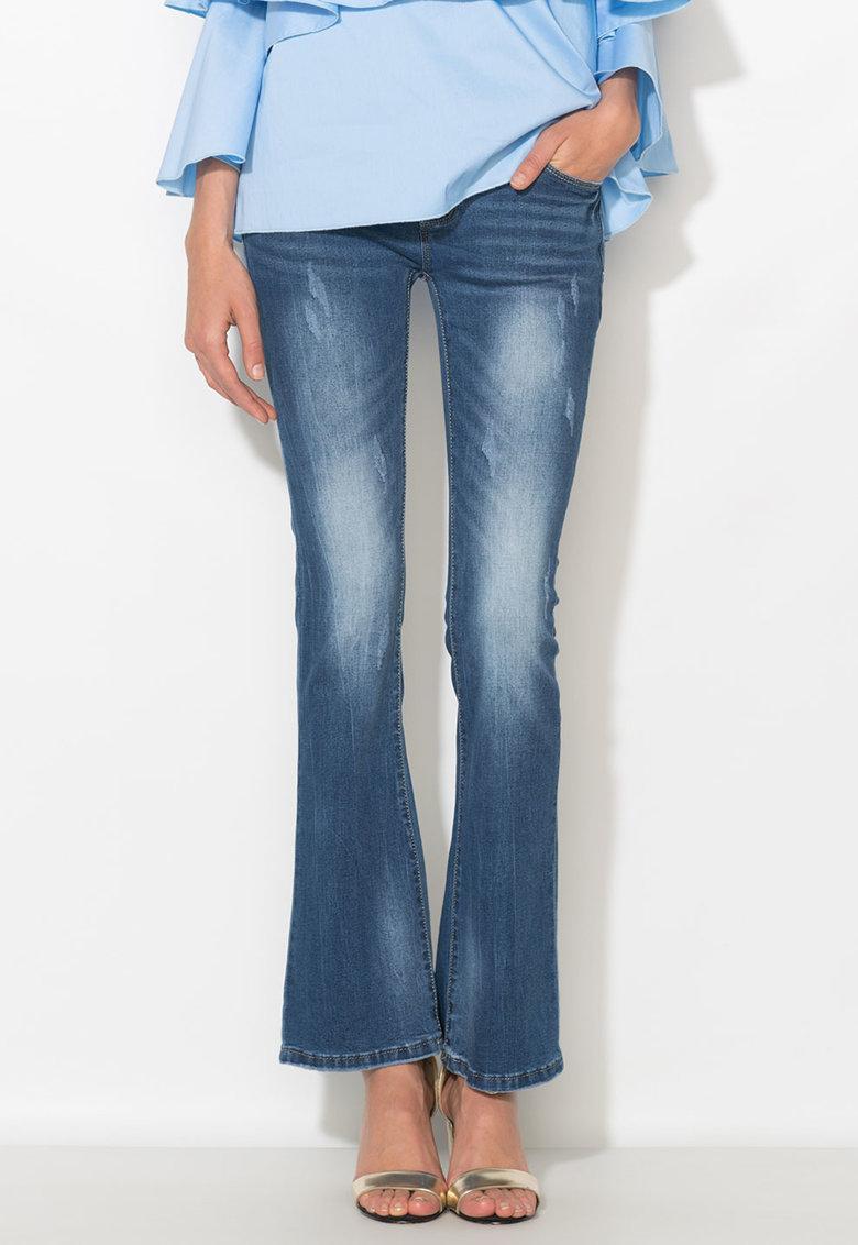 Zee Lane Denim Jeansi albastri evazati