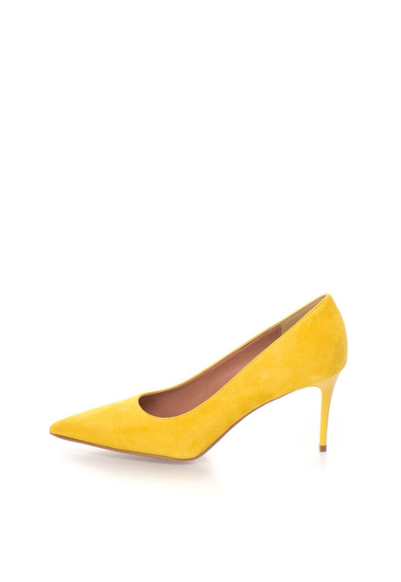 Zee Lane Pantofi galbeni de piele intoarsa cu varf ascutit Sofy