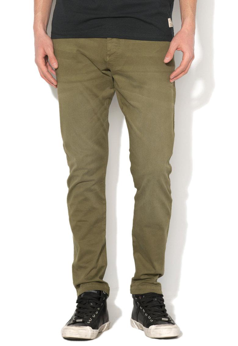 Pantaloni verde oliv regular fit Cody