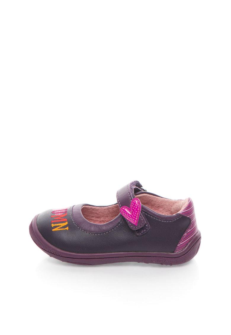 Lea Lelo Pantofi Mary Jane violet aubergine de piele