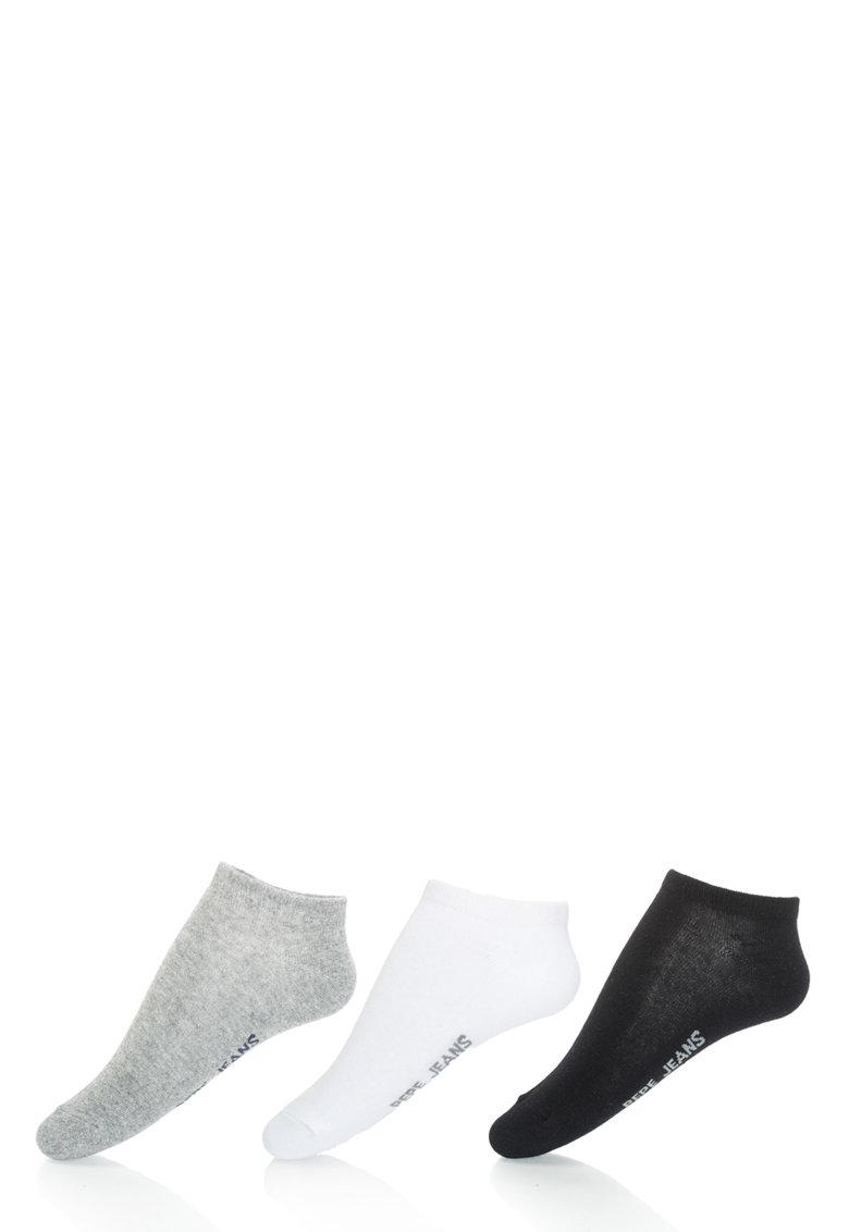 Set tricolor de sosete foarte scurte Tony – 3 perechi de la Pepe Jeans London