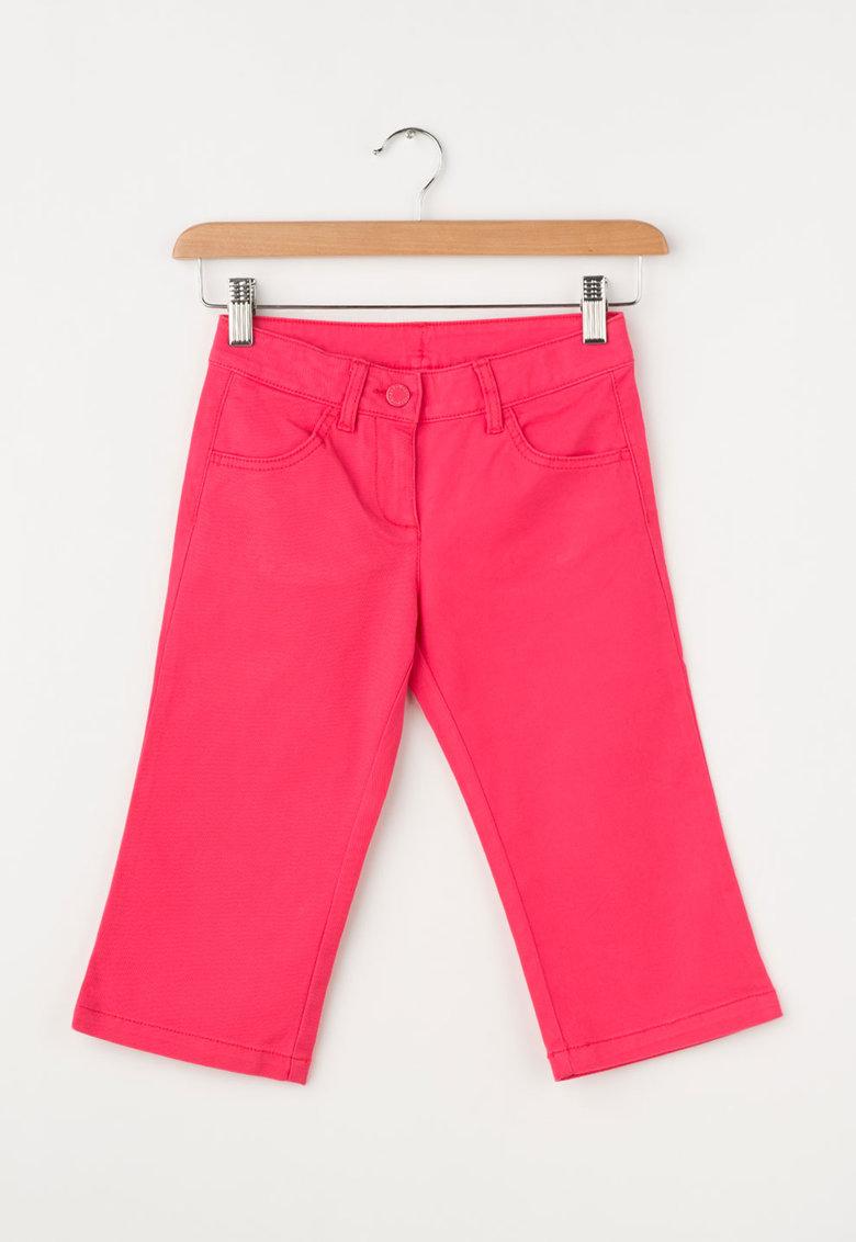 Jeansi roz drepti cu talie ajustabila de la United Colors Of Benetton