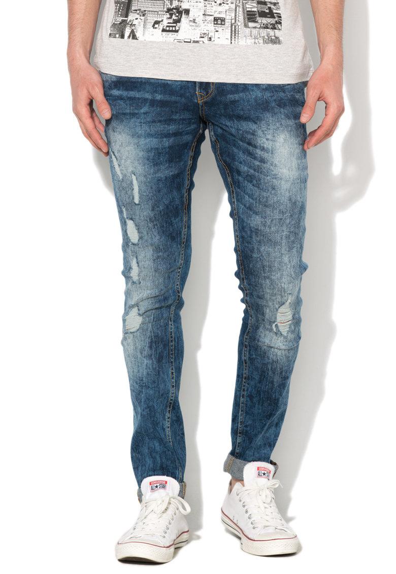 Alcott Jeansi albastri super skinny cu aspect deteriorat