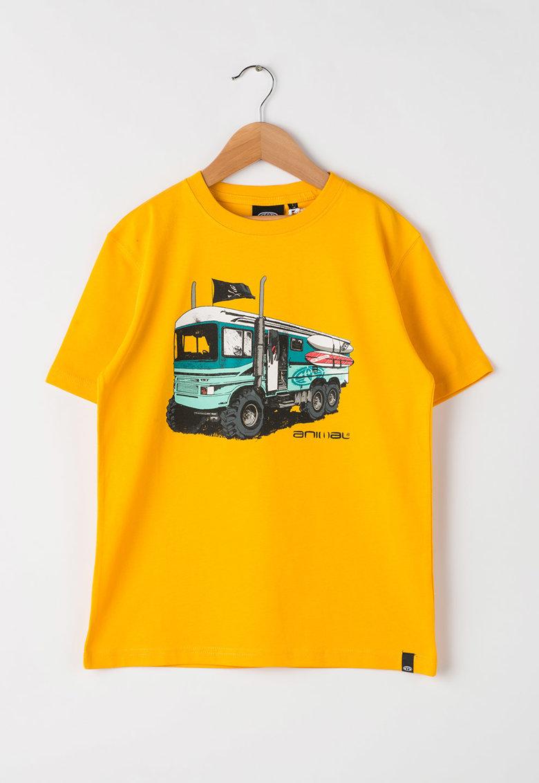 Animal Tricou galben cu imprimeu