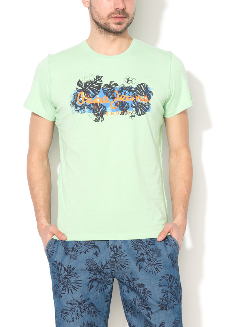 Tricou slim fit verde menta Melon de la Pepe Jeans London
