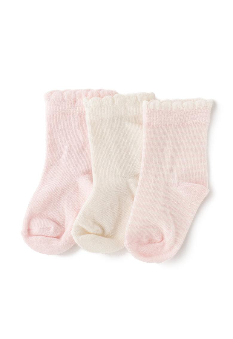 Undercolors of Benetton Set de sosete roz si crem – 3 perechi