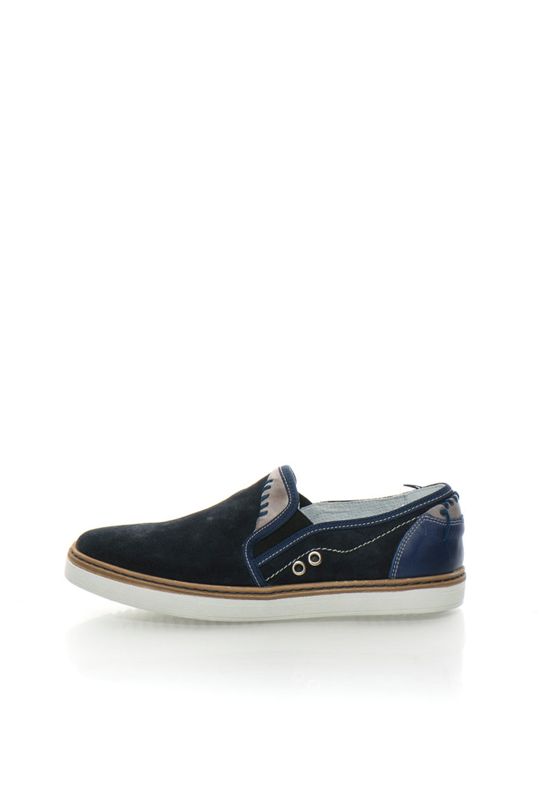 Zee Lane Pantofi slip-on bleumarin de piele intoarsa si piele Entex