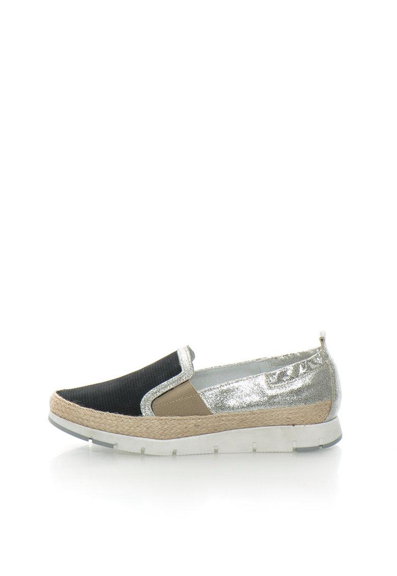 Zee Lane Pantofi slip-on multicolori de piele si piele nabuc