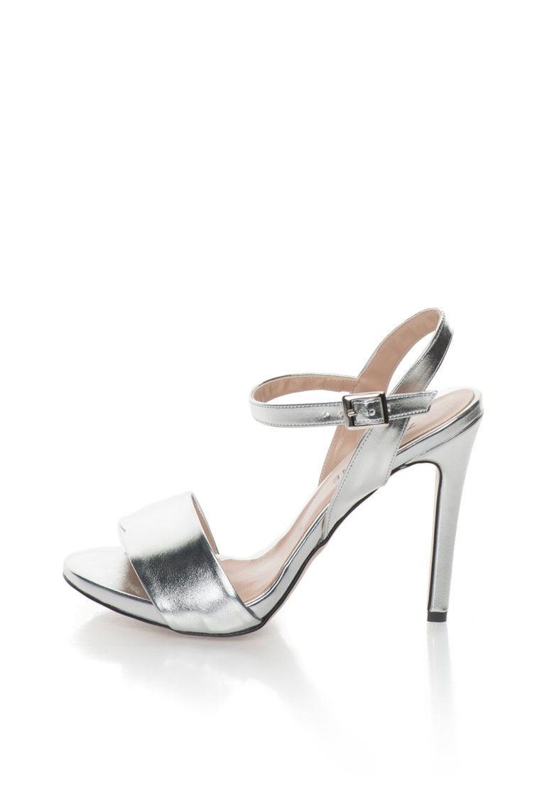 Zee Lane Sandale argintii de piele sintetica Gaia