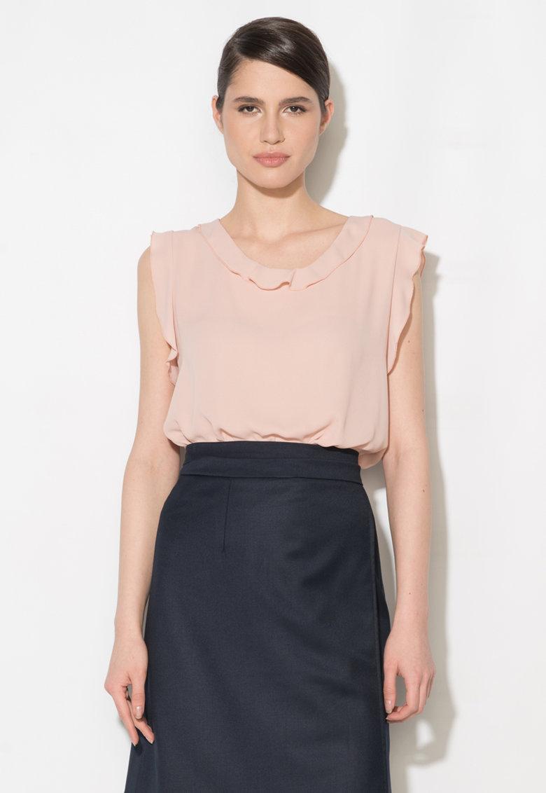 Bluza roz pal vaporoasa fara maneci Zee Lane Collection