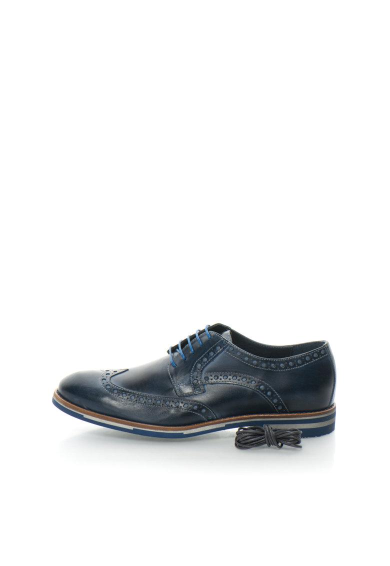 Zee Lane Collection Pantofi brogue bleumarin de piele