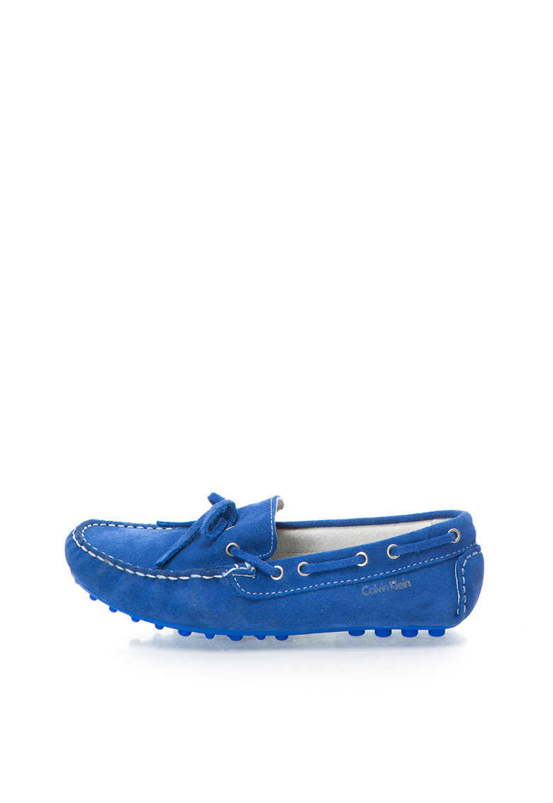 Calvin Klein Jeans Pantofi boat albastru royal din piele intoarsa Phil